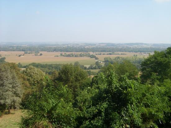 vue depuis le belvédére sur Mazéres ©