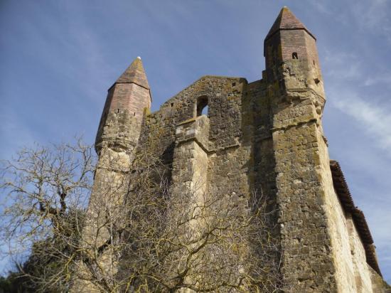 Emplacement de la cloche de l'église de Mazères